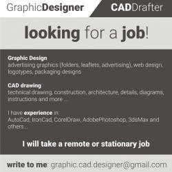 Graphic Designer / CAD Drafter Looking for a job!